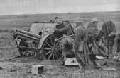 Haubica 100/17, podczas bitwy pod Guadalajara w czasie wojny domowej w Hiszpanii.