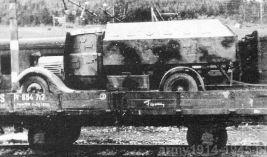 Renault ADK protetto podczas transportu kolejowego na Słowenii.