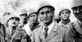 Porucznik S. Mainetto ze swoimi żołnierzami na Kefalonii (włoskie Cefalonia).