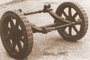 Wózek elastyczny do przewożenia haubicy 100/17.