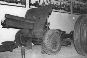 Zachowana w Muzeum Artylerii w Turynie haubica 100/17 mod.14/50