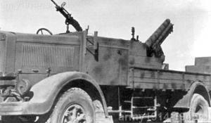 Przykład pojazdu dozbrojonego w ckm Breda Modello 38 kalibru 8 mm.