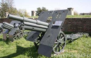 10cm M16 ŠKODA w muzeum w Belgradzie (Vojni muzej) (Wikipedia)