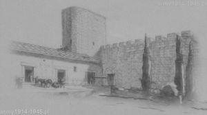 Kolejna próba rekonstrukcji wyglądu starożytnych murów obronnych wykonany przez T. Finamore w 1942 roku.