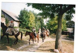 """Na planie filmu """"Tatarzy polscy"""", 1999r."""