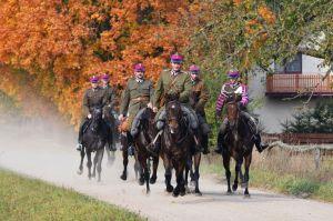 Rozgrzewka koni, Hubertus, Pietkowo, 2014 r.