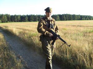 Sylwetka partyzanta 5 Wileńskiej Brygady AK 1946 r