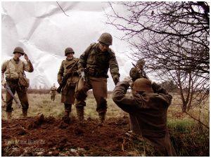 Przeczyce. Rekonstrukcje walk w lesie Hurtgen jesienią 1944 roku.