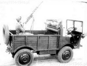Autocarretta mod. 36 Mt z ustawionym na skrzyni ładunkowej ckm.