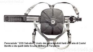 Spadochron Salvator D39 był postępem w stosunku do dotychczas używanych i zwiększał bezpieczeństwo, ale nie był rewolucyjną zmianą. (za www.prestia.it)