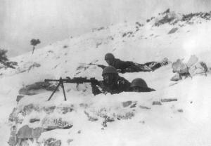Stanowisko żołnierzy z dywizji Parma na Kulnakes w dzisiejszej Albanii