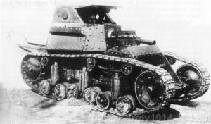 Prototyp tankietki jednoosobowej T-17 w 1930 r.