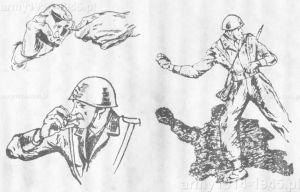 Charakterystycznym wymaganiem włoskich instrukcji użycia granatów, było zalecane uchwycenie i wyrwanie zawleczki zębami (choć można było i ręcznie). Jednak uchwyt zawleczki był we włoskich zawleczkach wykonany z gumy co ułatwiało takie zachowania.