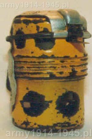 Ćwiczebny granat dymny wielokrotnego użytku SRCM Mod.35 z okresu wojny (98° Corso A.U.C. Cesano)