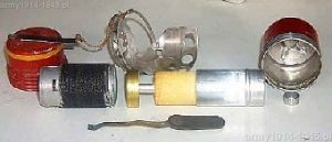 Granat SRCM Mod.35 rozebrany na części składowe (98° Corso A.U.C. Cesano)