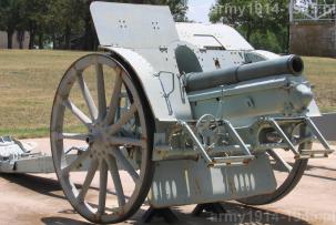 Działo 10 cm FH M.14 z lufą z brązu (Wikipedia).