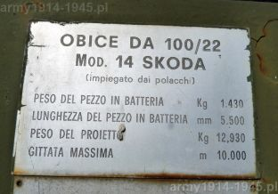 Haubice z Mignano Monte Lungo (źródło: Fundacja Andrzej Marzec Montr Cassino)
