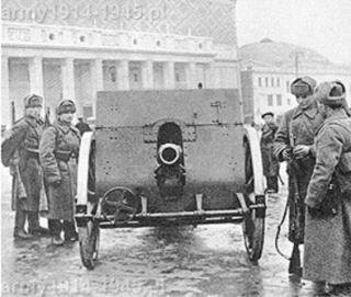 Polska haubica w rękach sowieckich.