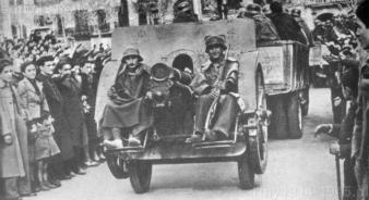 Haubica 100/17 przekazana przez Włochów w służbie hiszpańskich faszystów.