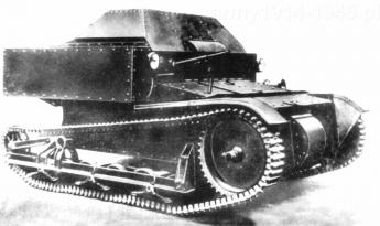 Prototyp wersji seryjnej T-27 z roku 1930.