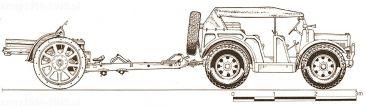 Rysunek zestawu 100/17 mod.914 TM z ciągnikiem LT37.