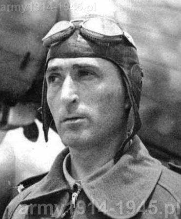 """ppłk inżynierii Geoffrey Tonini odważny dowódca """"Fanti dell'Aria"""". Po pobycie w obozie jenieckim wrócił do służby we włoskiej armii i dosłużył się stopnia generała."""