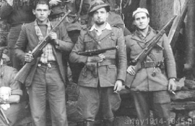 Partyzanci w północnych Włoszech uzbrojeni w MAB.