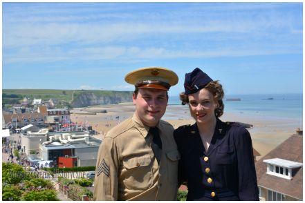 Normandia 2014 - 70. rocznica D-Day. Widok na sztuczny port w zatoce w Arromanches.