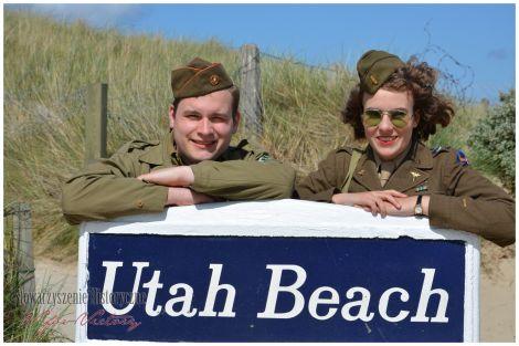 Wejście na plażę Utah.